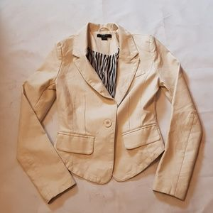 Paper tee creamy White Leather jacket size:s